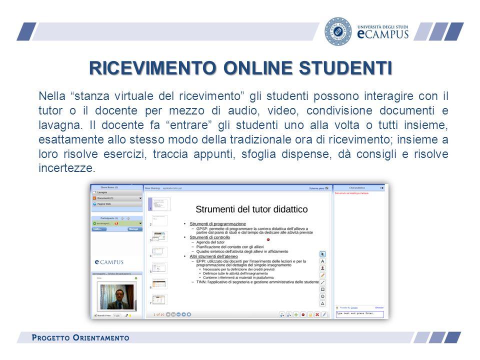 RICEVIMENTO ONLINE STUDENTI