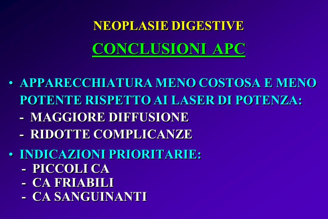 NEOPLASIE DIGESTIVE CONCLUSIONI APC