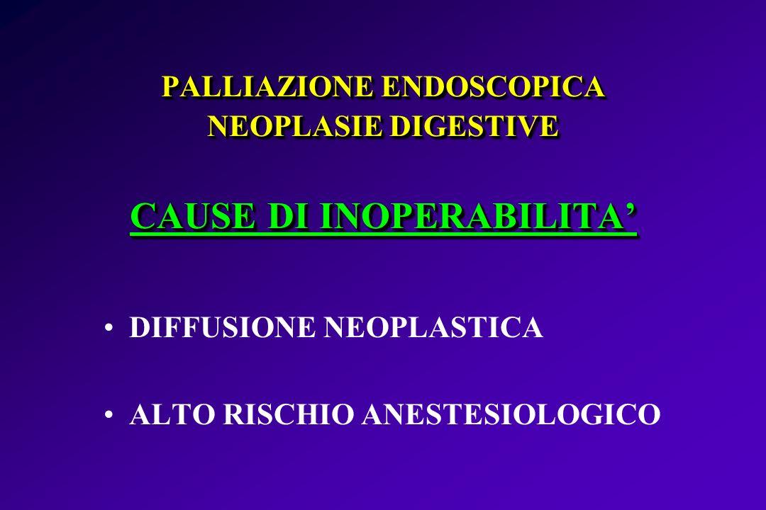 PALLIAZIONE ENDOSCOPICA NEOPLASIE DIGESTIVE CAUSE DI INOPERABILITA'