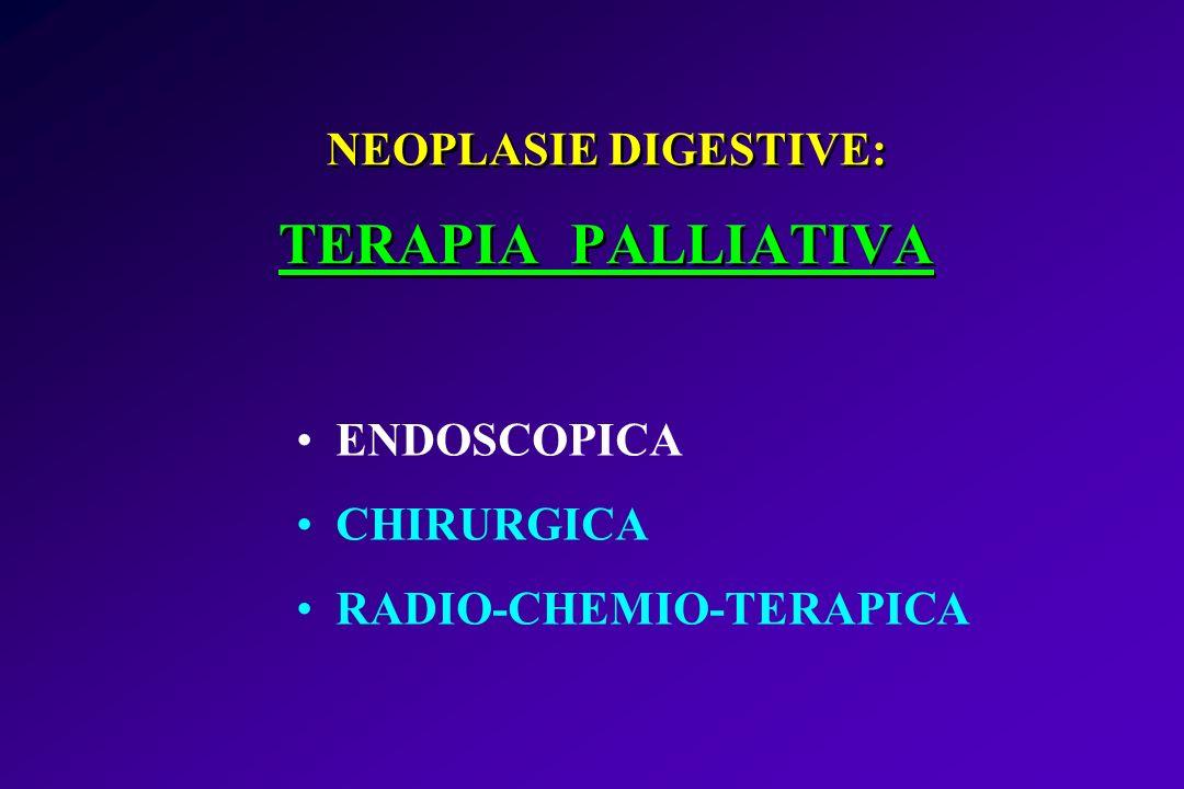 NEOPLASIE DIGESTIVE: TERAPIA PALLIATIVA