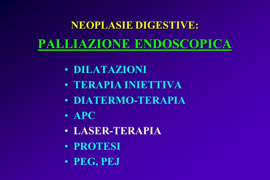 NEOPLASIE DIGESTIVE: PALLIAZIONE ENDOSCOPICA