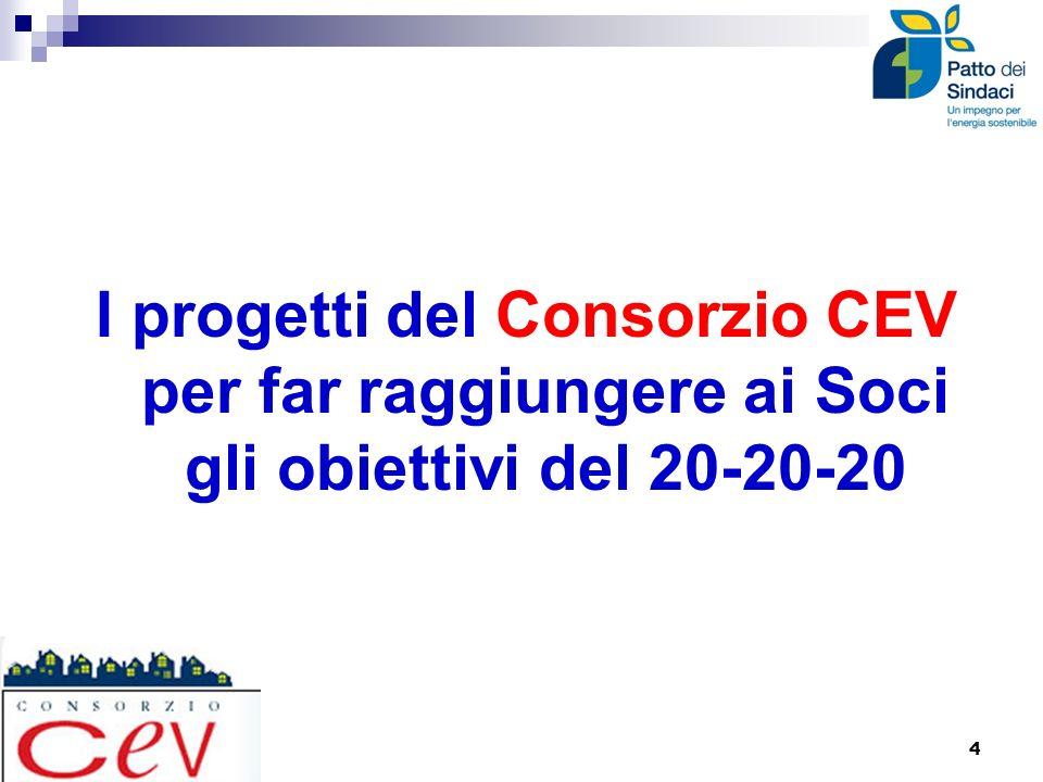 I progetti del Consorzio CEV per far raggiungere ai Soci gli obiettivi del 20-20-20