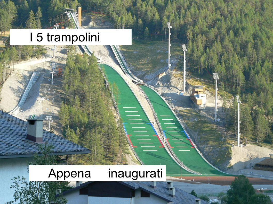 I 5 trampolini Appena inaugurati