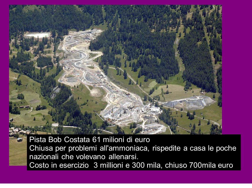 Pista Bob Costata 61 milioni di euro