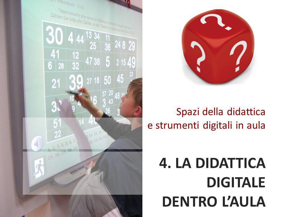 4. LA DIDATTICA DIGITALE DENTRO L'AULA