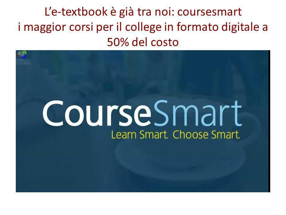 L'e-textbook è già tra noi: coursesmart i maggior corsi per il college in formato digitale a 50% del costo
