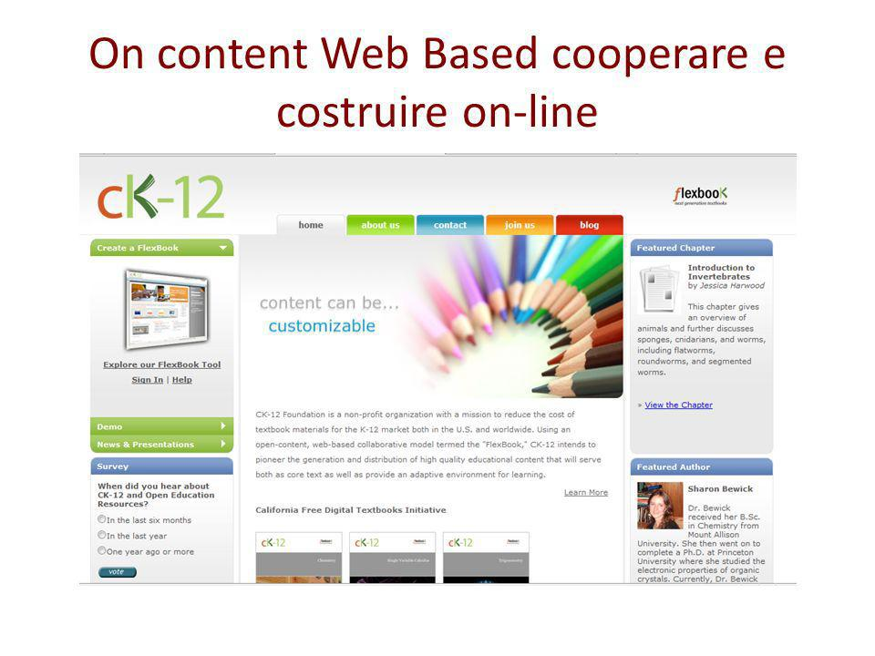 On content Web Based cooperare e costruire on-line