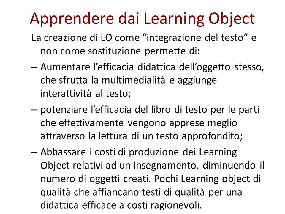 Apprendere dai Learning Object