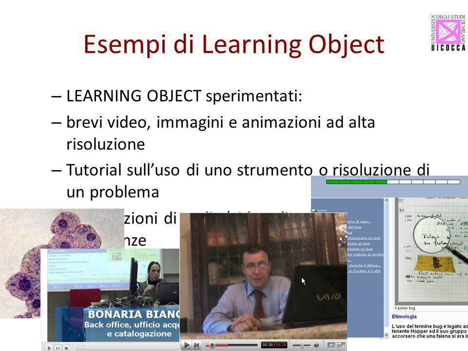 Esempi di Learning Object