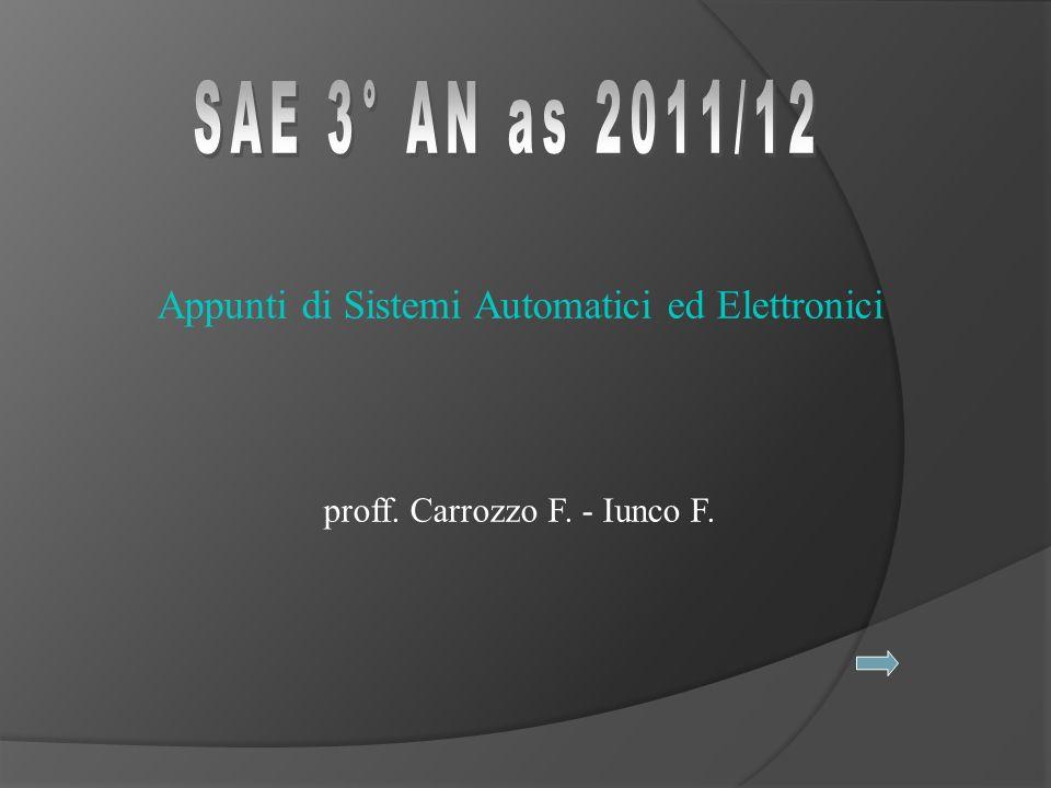 SAE 3° AN as 2011/12 Appunti di Sistemi Automatici ed Elettronici