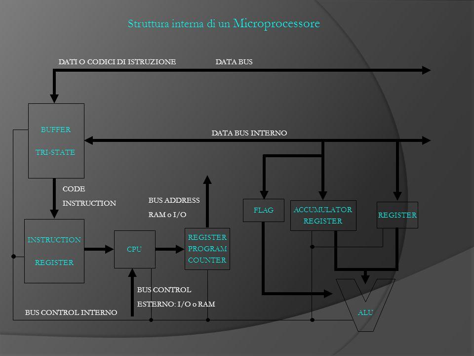 Struttura interna di un Microprocessore