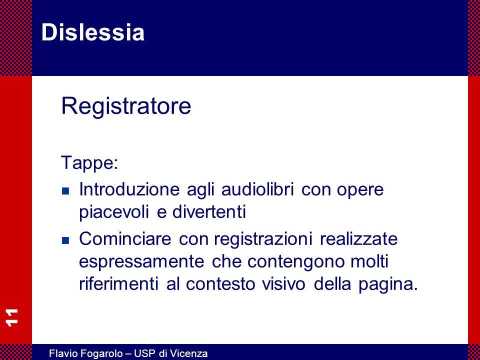Dislessia Registratore Tappe: