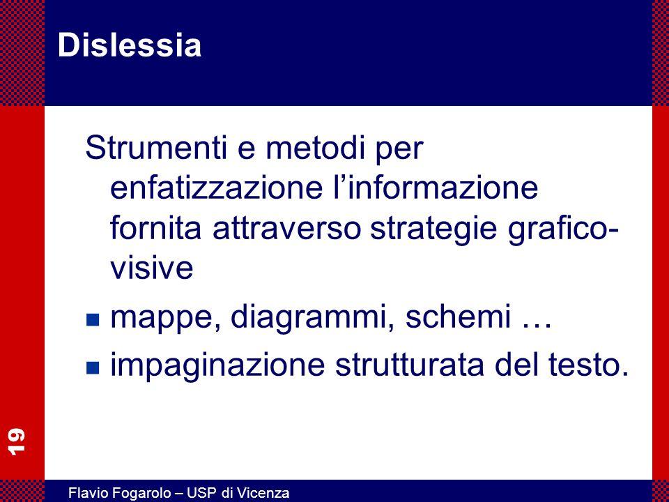 Dislessia Strumenti e metodi per enfatizzazione l'informazione fornita attraverso strategie grafico-visive.