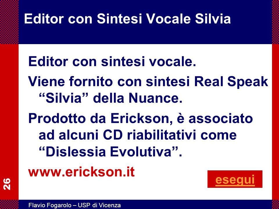 Editor con Sintesi Vocale Silvia