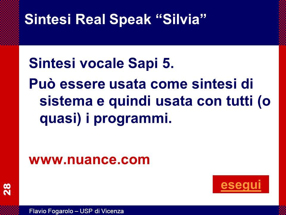 Sintesi Real Speak Silvia