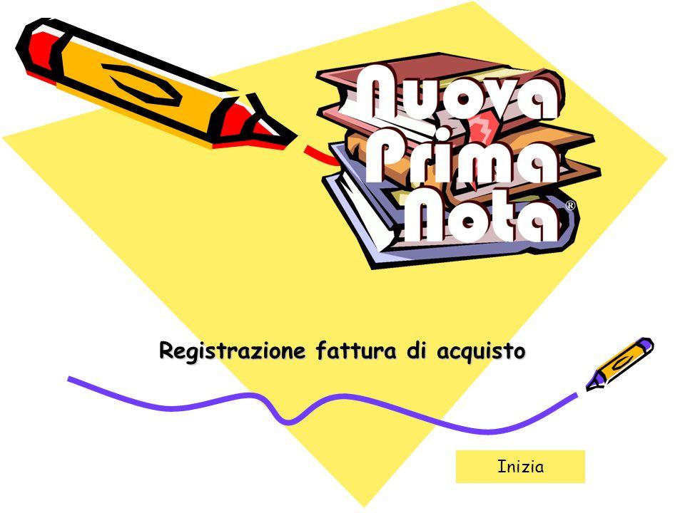 Registrazione fattura di acquisto