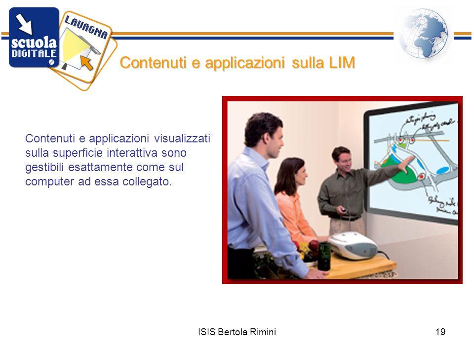 Contenuti e applicazioni sulla LIM