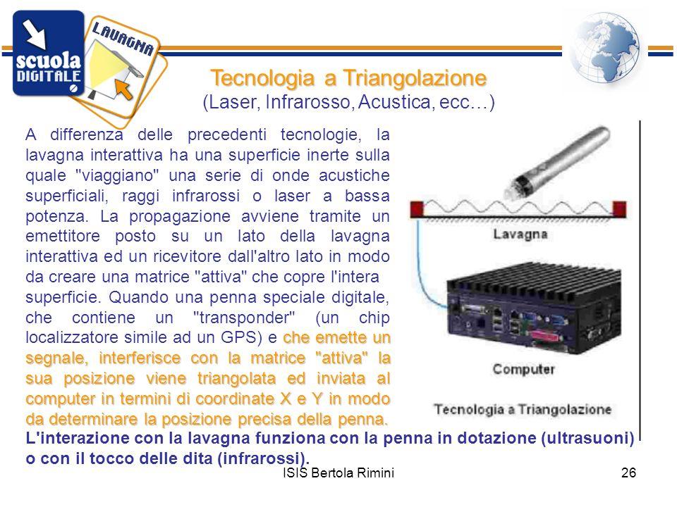 Tecnologia a Triangolazione (Laser, Infrarosso, Acustica, ecc…)
