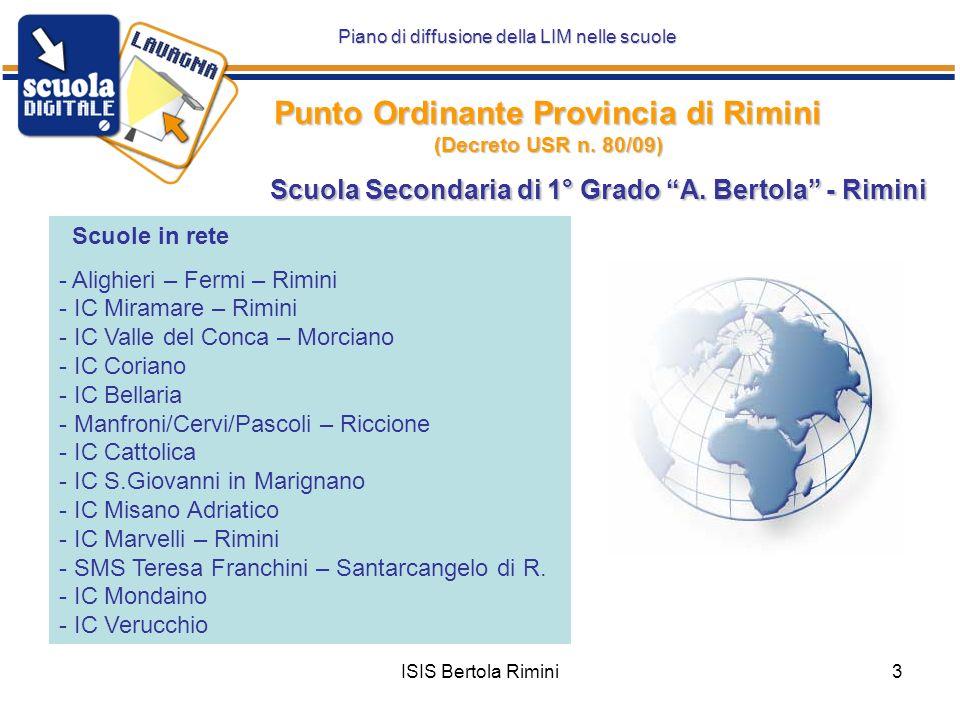 Punto Ordinante Provincia di Rimini (Decreto USR n. 80/09)