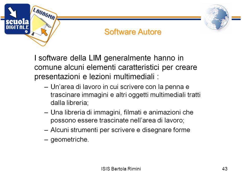 bertola Software Autore ISIS Bertola Rimini Menghi