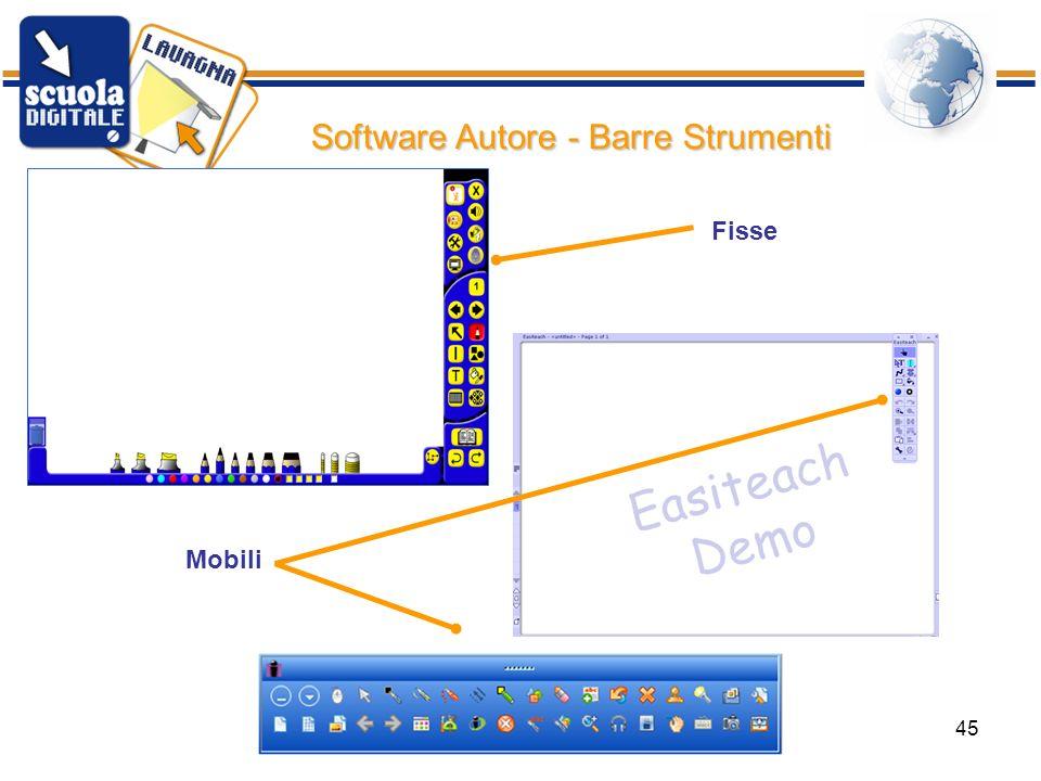 Software Autore - Barre Strumenti