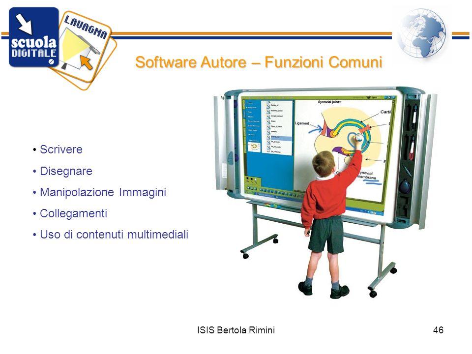 Software Autore – Funzioni Comuni