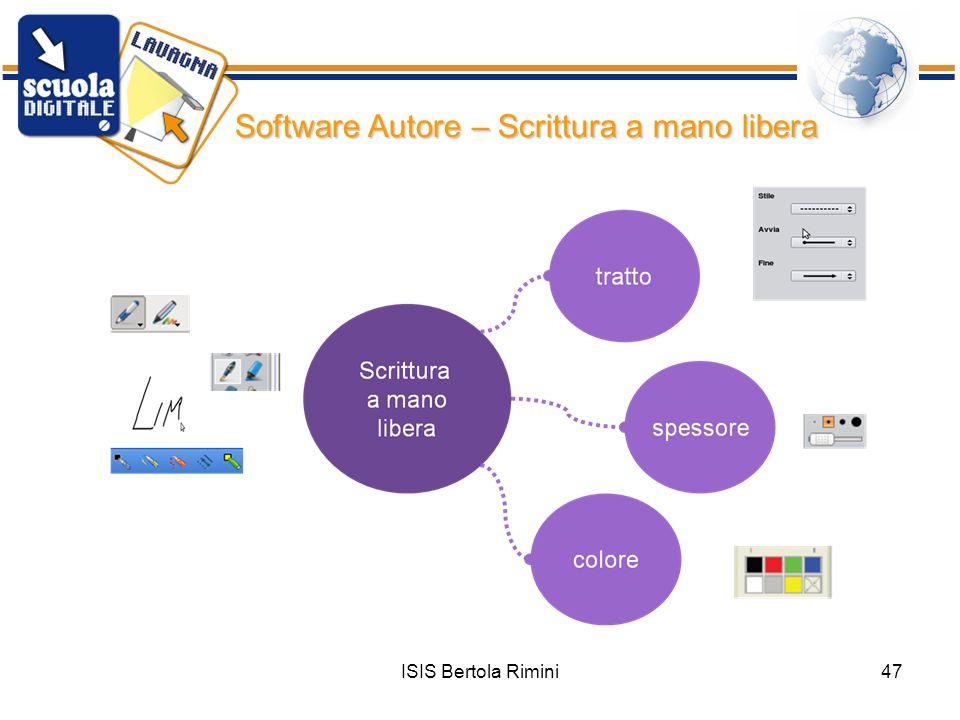 Software Autore – Scrittura a mano libera