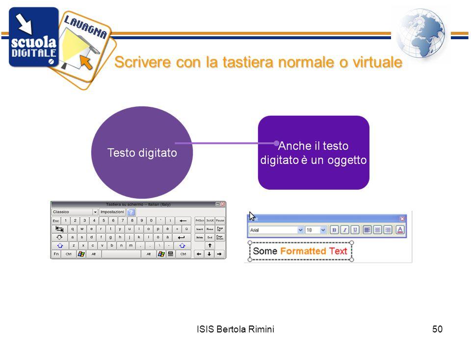 Scrivere con la tastiera normale o virtuale