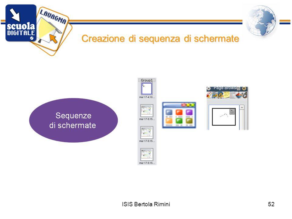 Creazione di sequenza di schermate