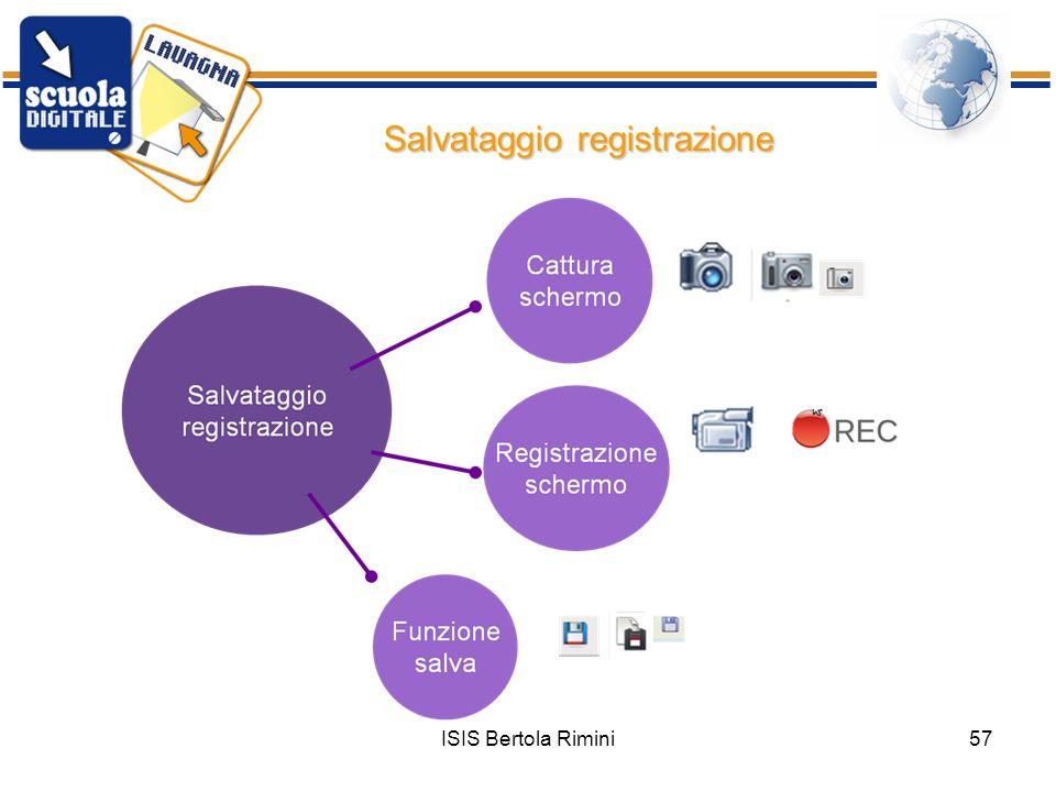 Salvataggio registrazione