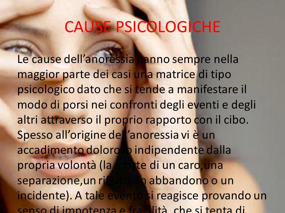 CAUSE PSICOLOGICHE