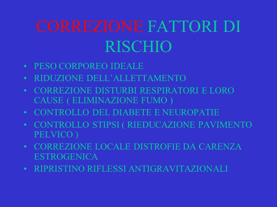 CORREZIONE FATTORI DI RISCHIO
