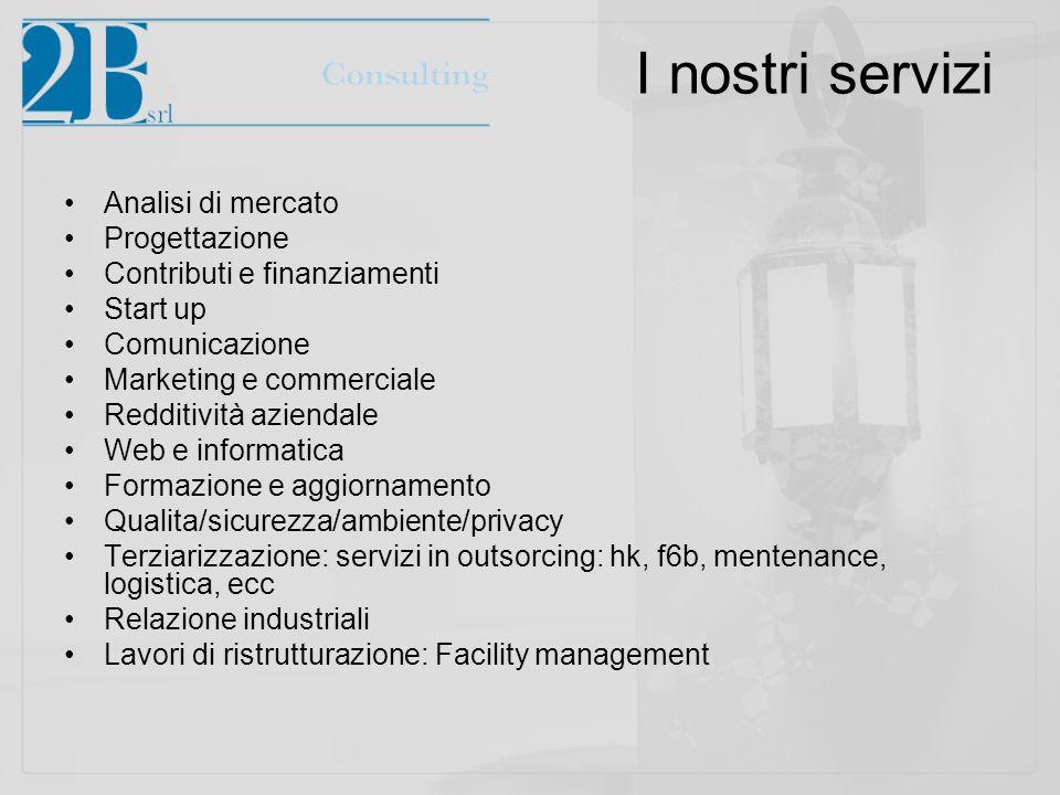 I nostri servizi Analisi di mercato Progettazione