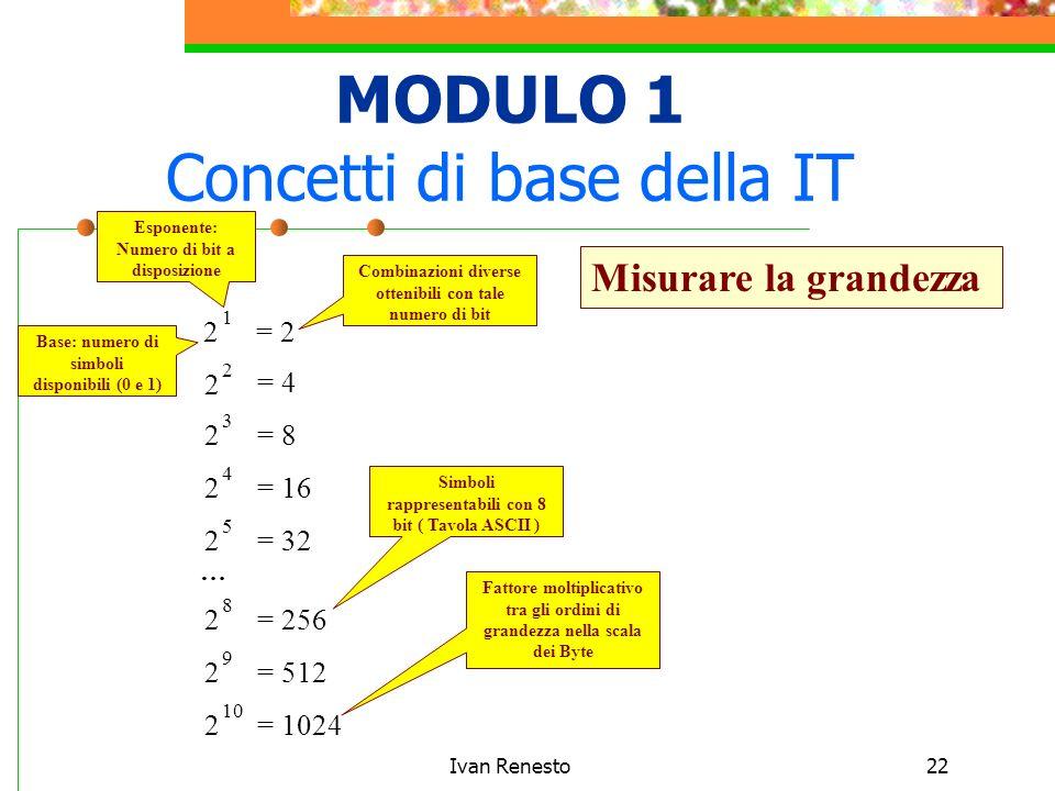 MODULO 1 Concetti di base della IT