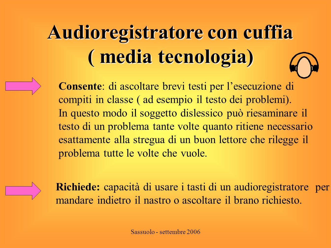 Audioregistratore con cuffia ( media tecnologia)