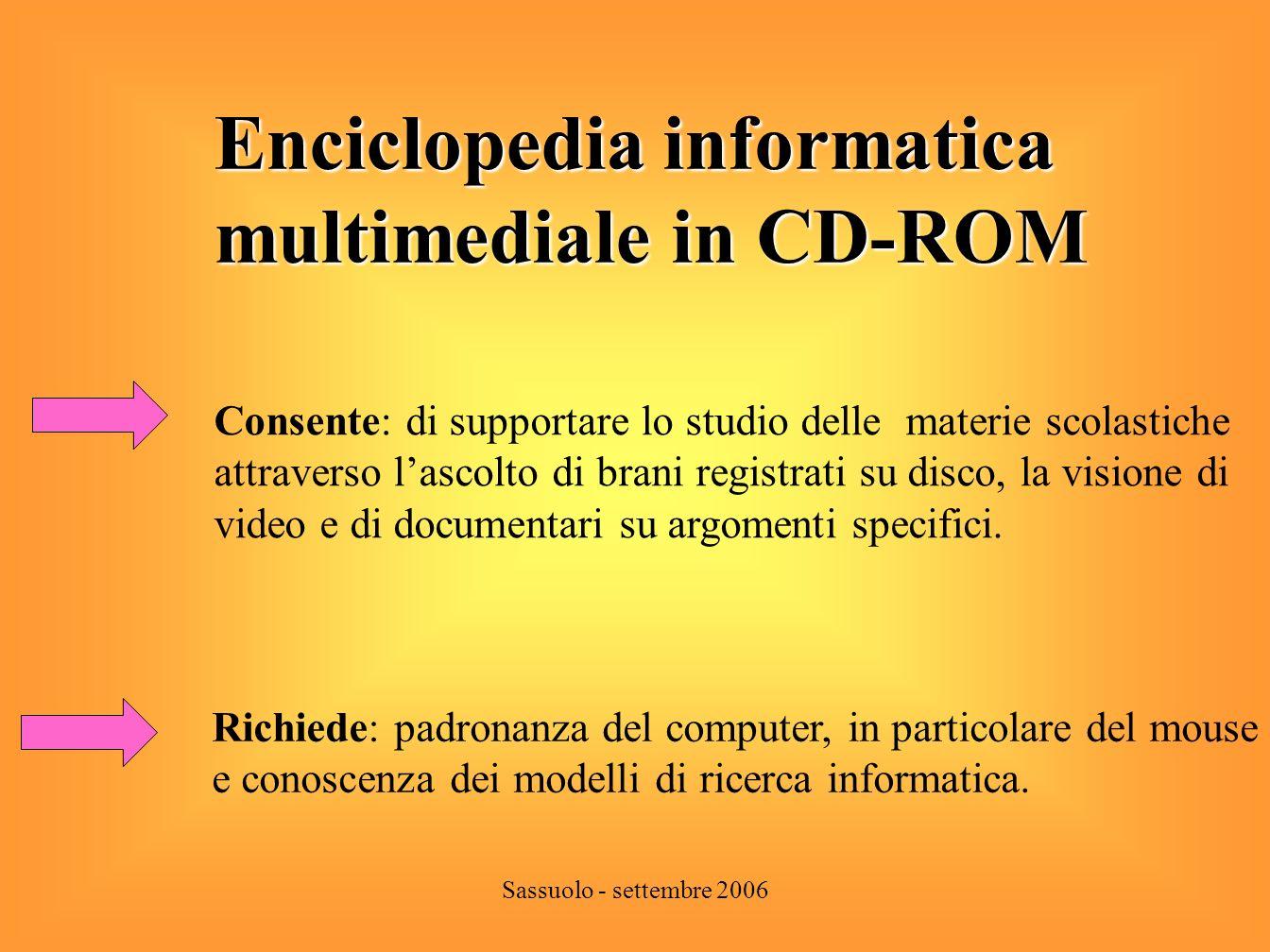 Enciclopedia informatica multimediale in CD-ROM