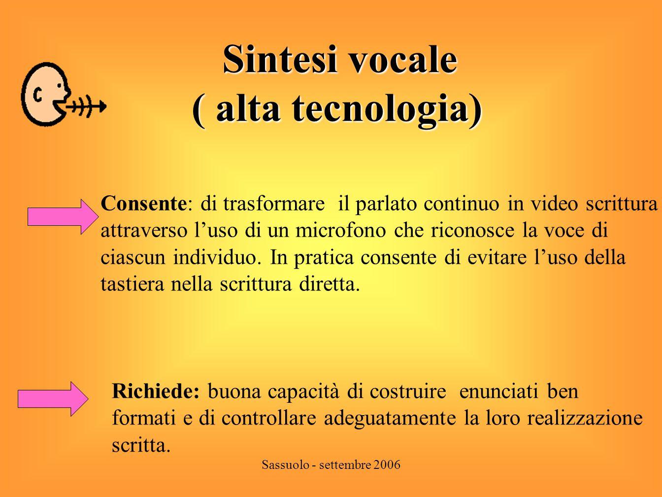Sintesi vocale ( alta tecnologia)