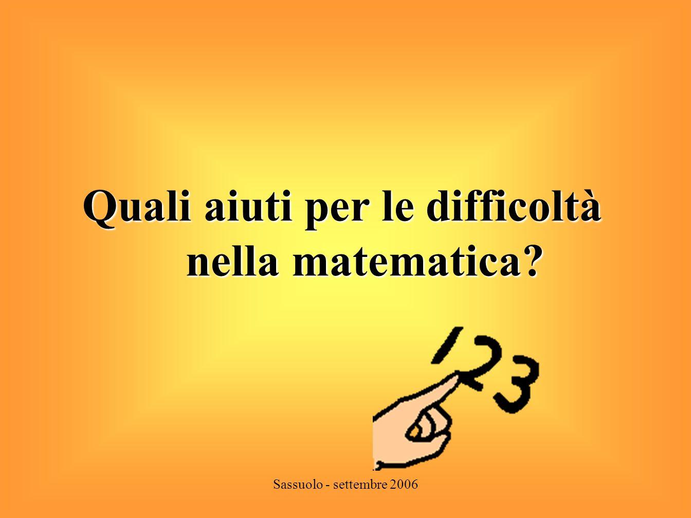 Quali aiuti per le difficoltà nella matematica