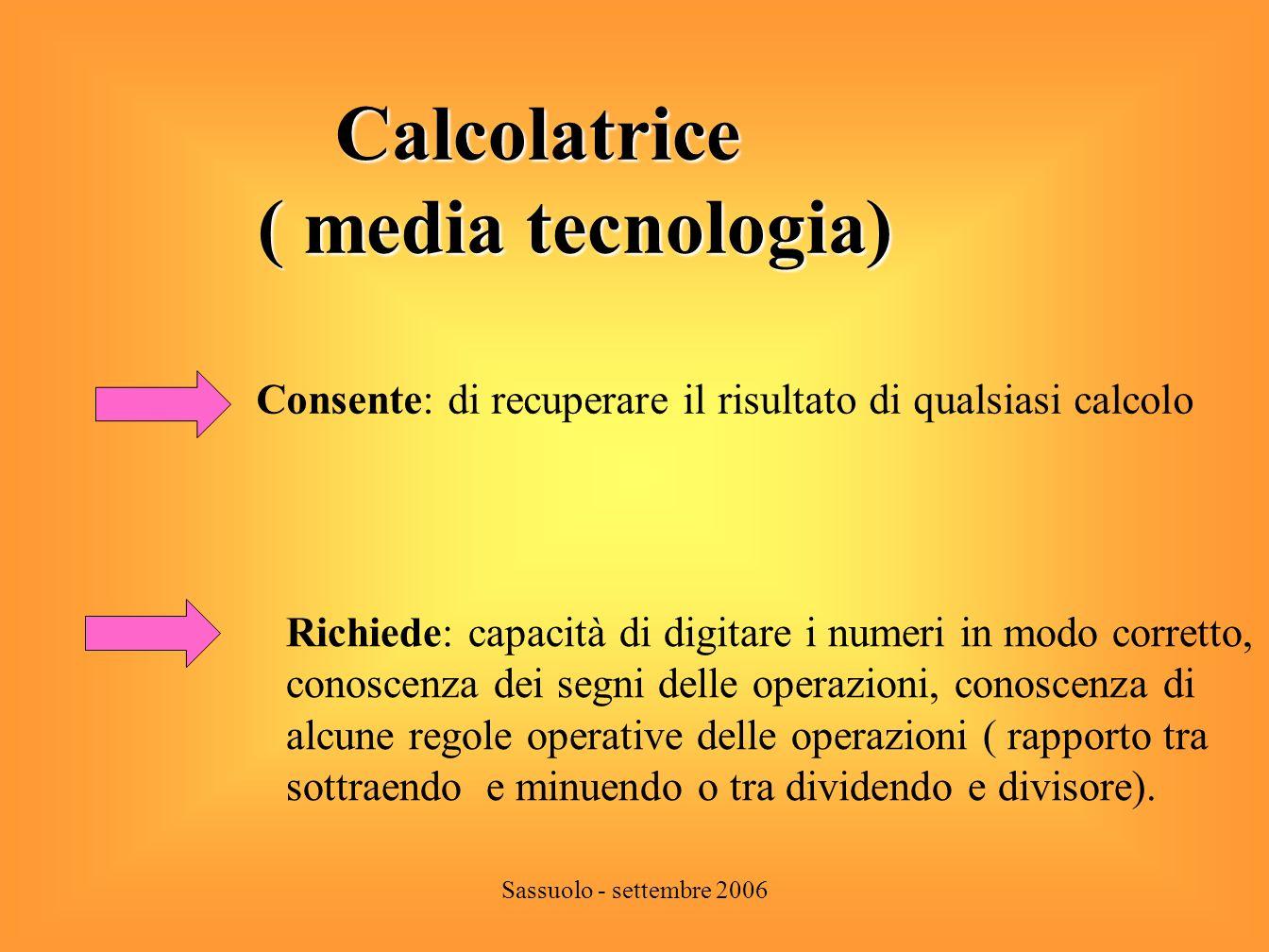 Calcolatrice ( media tecnologia)