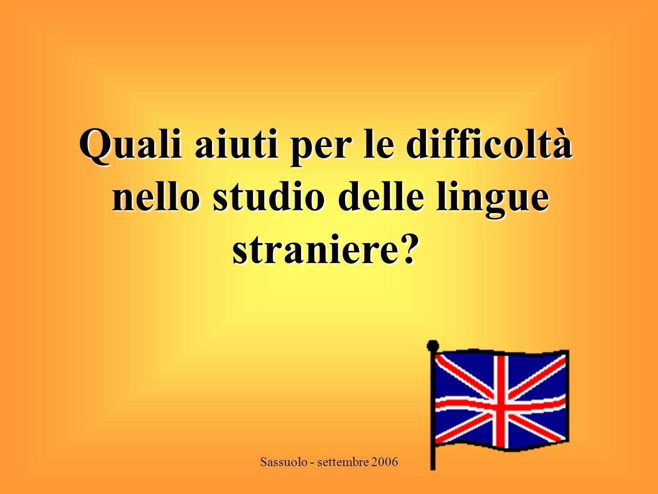 Quali aiuti per le difficoltà nello studio delle lingue straniere