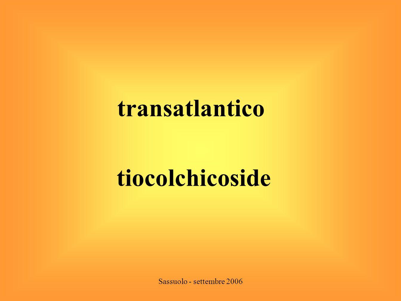 transatlantico tiocolchicoside Sassuolo - settembre 2006