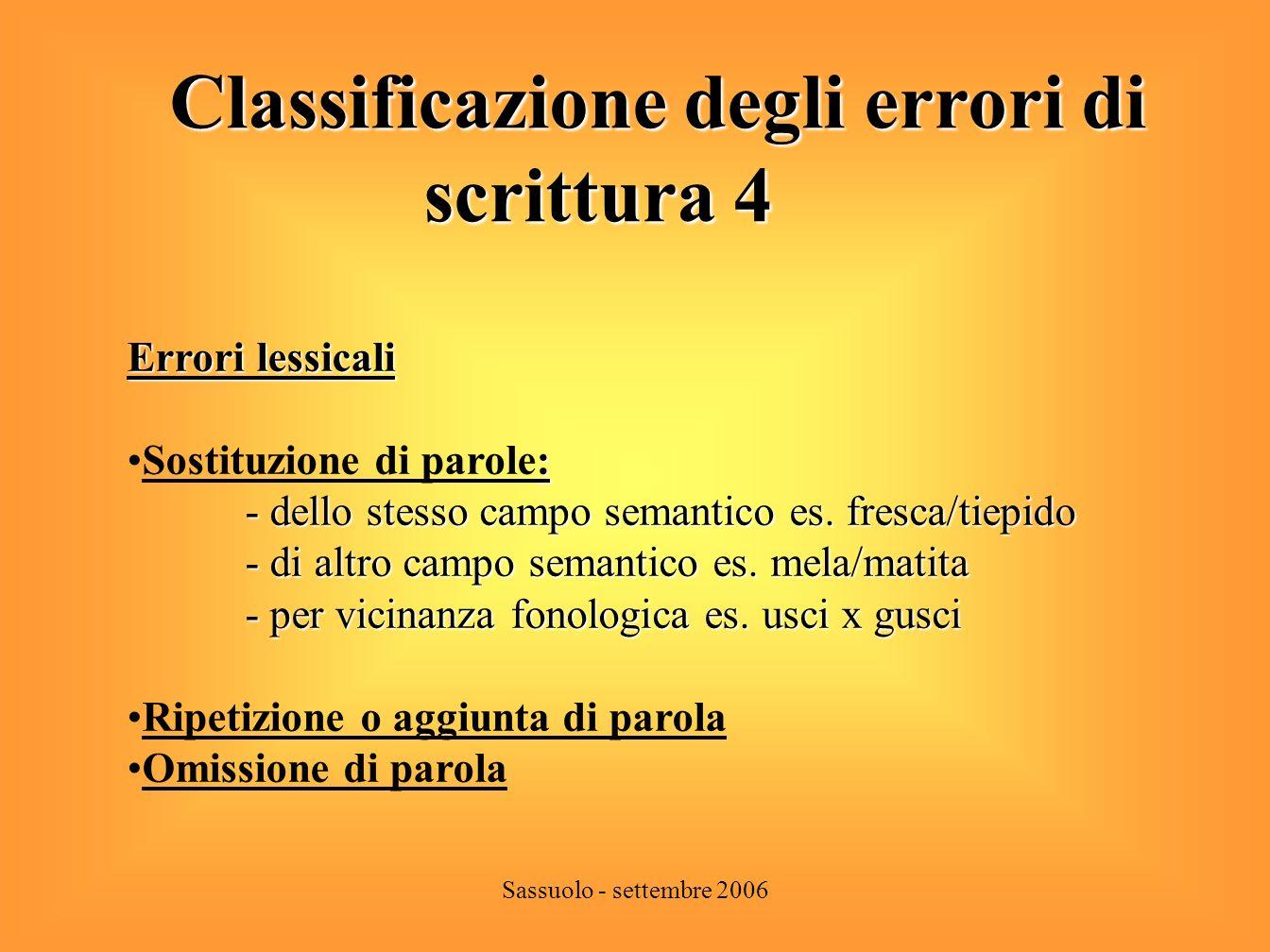 Classificazione degli errori di scrittura 4