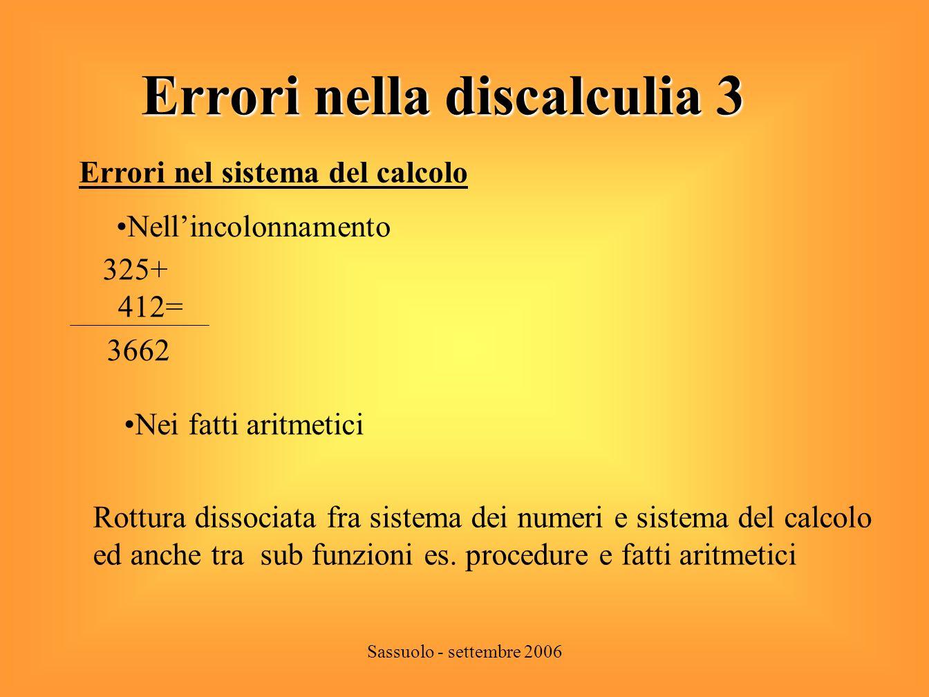 Errori nella discalculia 3