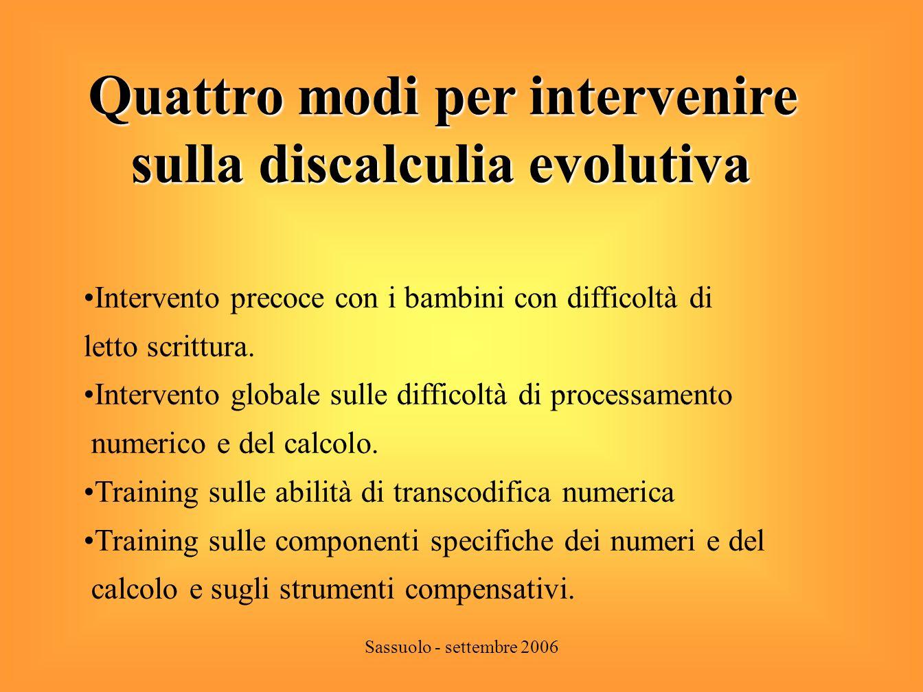 Quattro modi per intervenire sulla discalculia evolutiva
