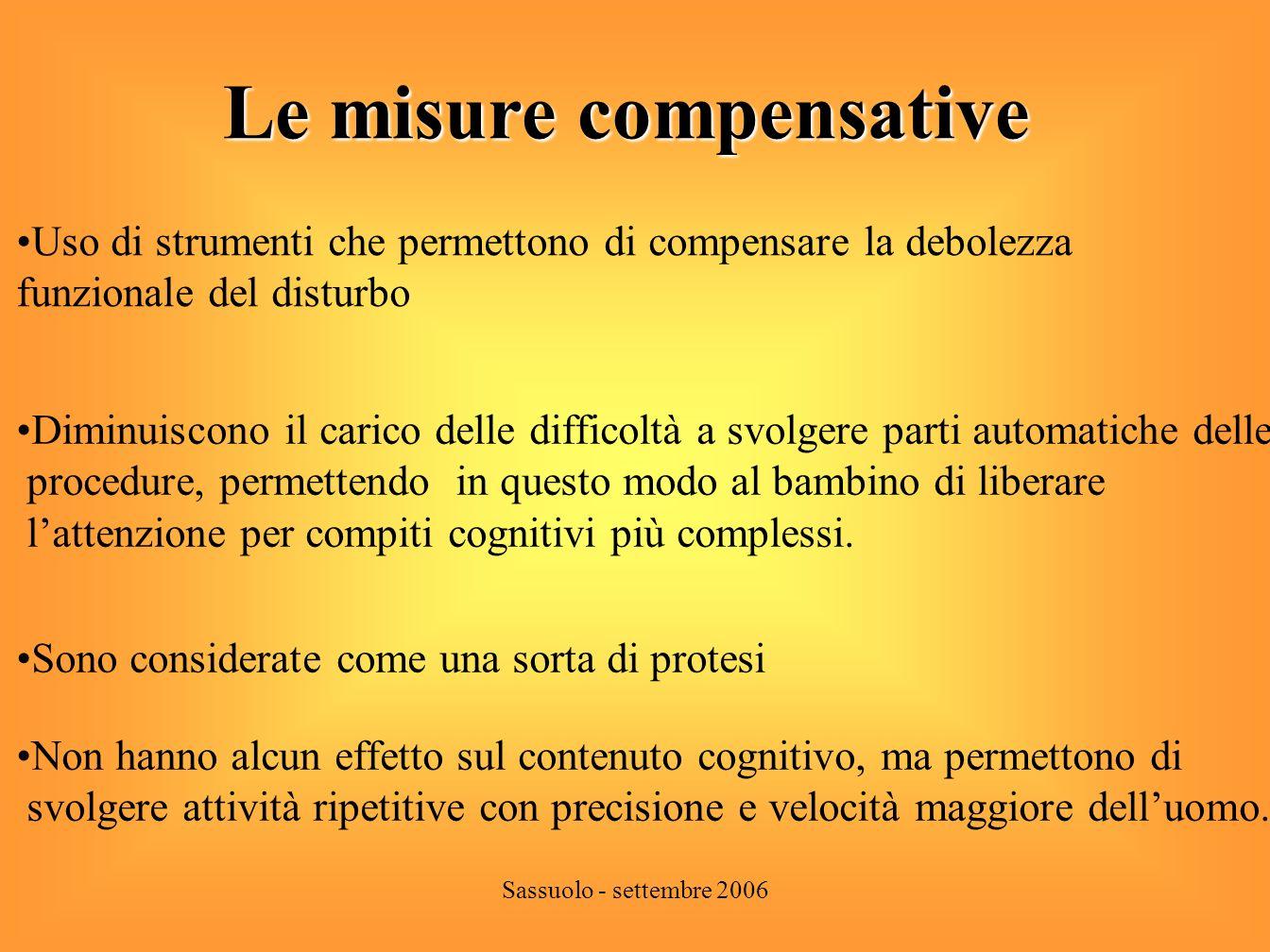 Le misure compensative