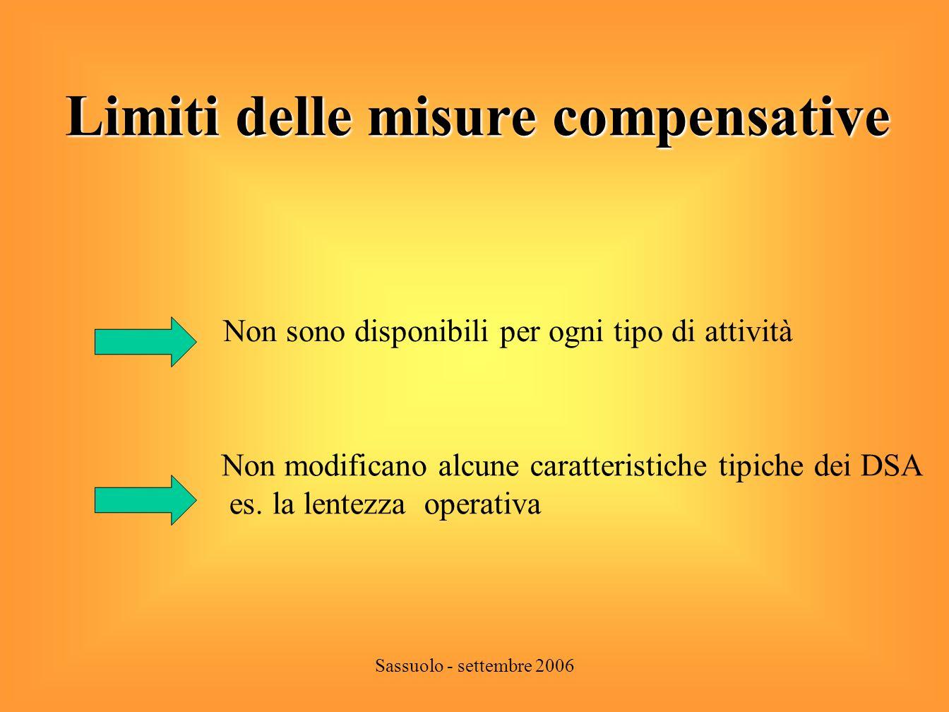 Limiti delle misure compensative