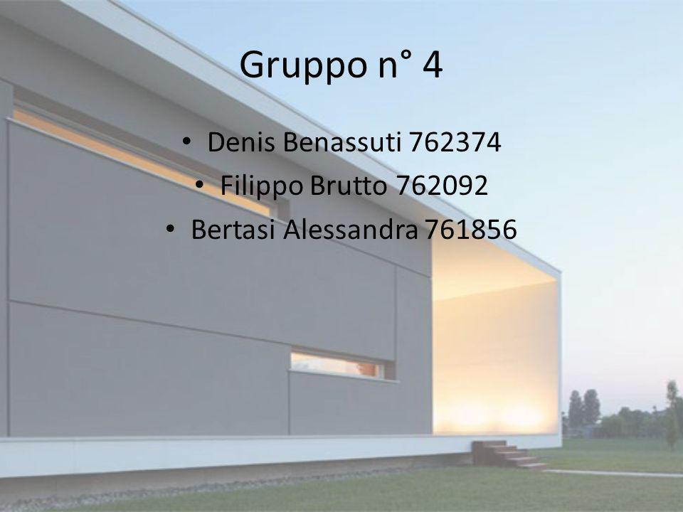 Gruppo n° 4 Denis Benassuti 762374 Filippo Brutto 762092