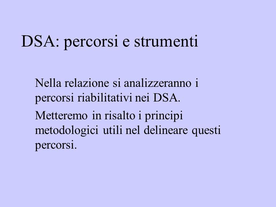 DSA: percorsi e strumenti