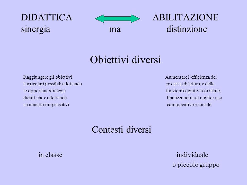 DIDATTICA ABILITAZIONE sinergia ma distinzione