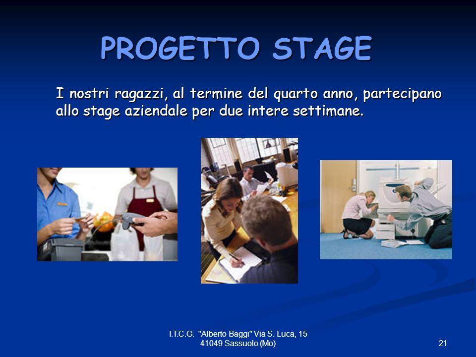 I.T.C.G. Alberto Baggi Via S. Luca, 15 41049 Sassuolo (Mo)